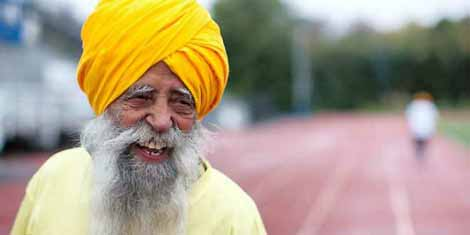 Fauja-Singh souriant